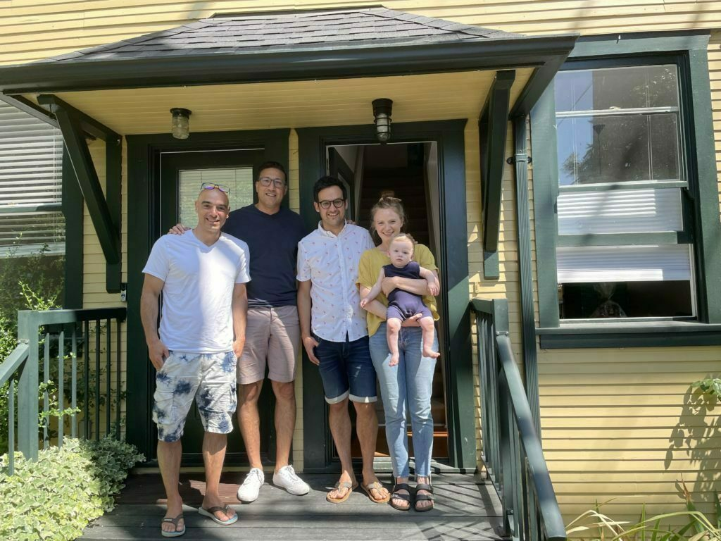 Jacob & Jacky with clients in East Vancouver Strathcona